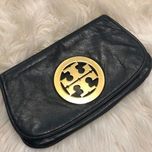 💫Tory Burch Reva clutch - Black/Gold